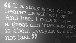 We love great stories!